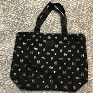 NWOT Black PINK Zipper Tote